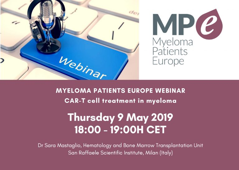 Myeloma Patients Europe webinar on CAR-T cell treatment